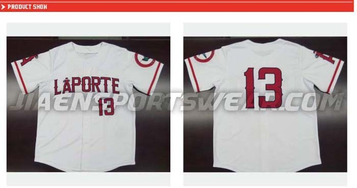Sublimation 100% Mesh Polyester V neck baseball jersey custom