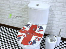 3 sides Printed duroplast toilet seat with soft closed function