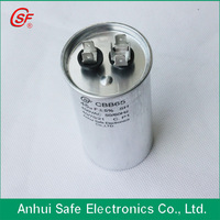 air conditioner capacitor cbb65 450VAC 45uf 2*4 terminal 50*100mm