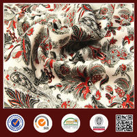 Shaoxing textile 100% polyester print sandwich fabric for women' coat