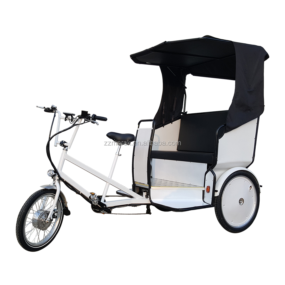 Fashion Marriage Style 3 Wheel Electric Cycle Rickshaw For Two Passangers