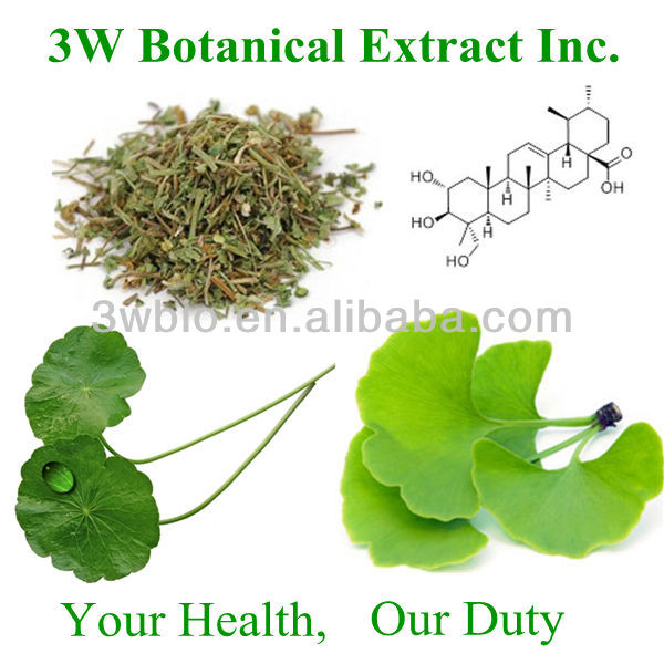 100% Natural High Quality Centella Madecassic Acid Extract Powder