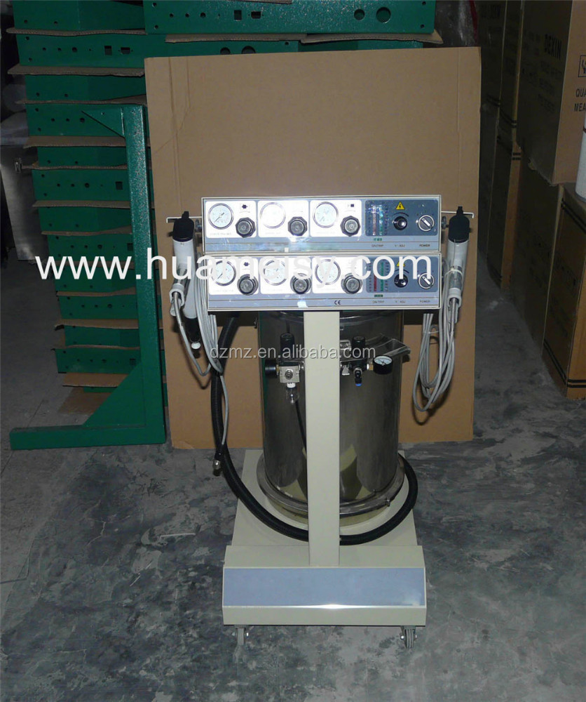 electrostatic manual powder coating equipment with two controller
