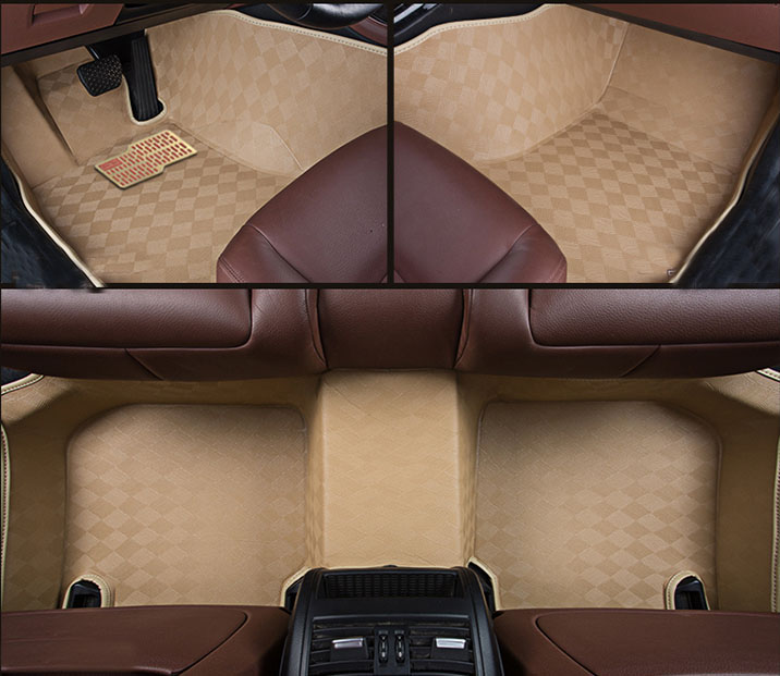 Easy to Clean 5D Leather Material Car carpet Full Set Car Mat