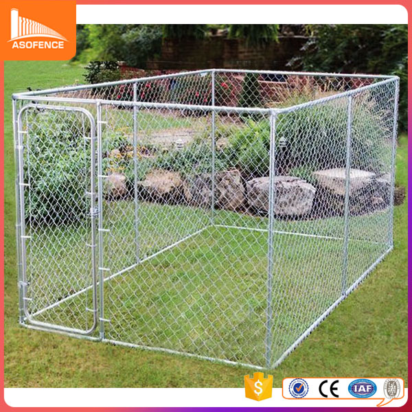 Heavy duty steel hot dip galvanized round tube welded mesh chain link dog kennel