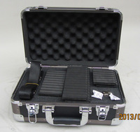 black aluminum briefcase with black handle high quality
