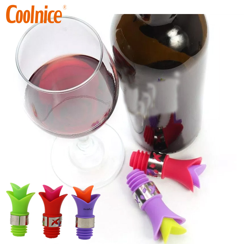 Reusable Cheap Funny Silicone Beverage Novelty Bottle Wine Stoppers