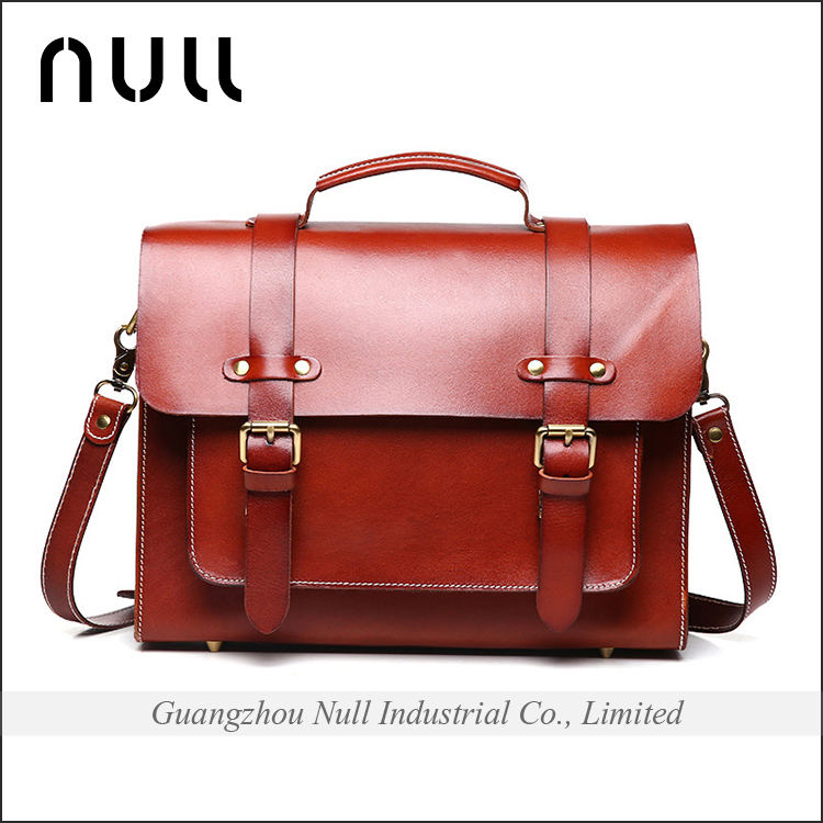 Men Leather Business Handbag Briefcase brown Shoulder Messenger Bag Laptop Bag