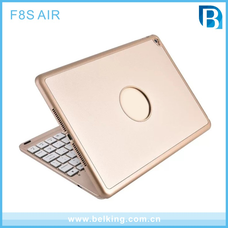 7 Colors Backlit Bluetooth Keyboard Case Smart Folio Cover for Apple iPad Air 2/1