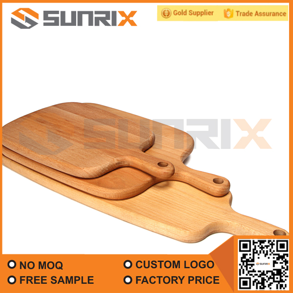 Wholesale Green Rectangular Beech Wooden Pizza Plate