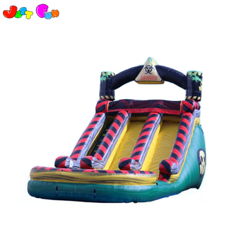 15ft dual hazard water slide marble inflatable for commercial use or party use dry slide for sale
