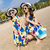 mother and daughter floral summer beach dresses family holiday clothings