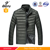 Light foldable varsity color outdoor man jacket winter wear 100% polyester down padded jacket garment custom bomber jacket