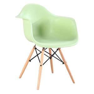 Modern Wooden Legs Dining Plastic Chair
