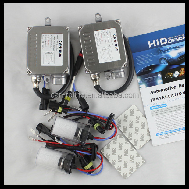 50w 55w hid xenon conversion headlight kit bulb hid xenon ballast kit canbus h7 xenon hid kit