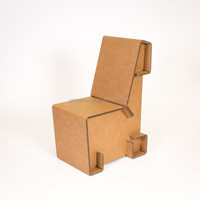 New product folding cardboard paper chair