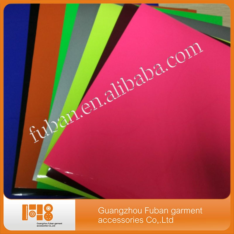 Hot sale Korean PU heat transfer film 10*12 inches sheet for T- shirt