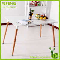 modern mdf and solid wood leg dining table