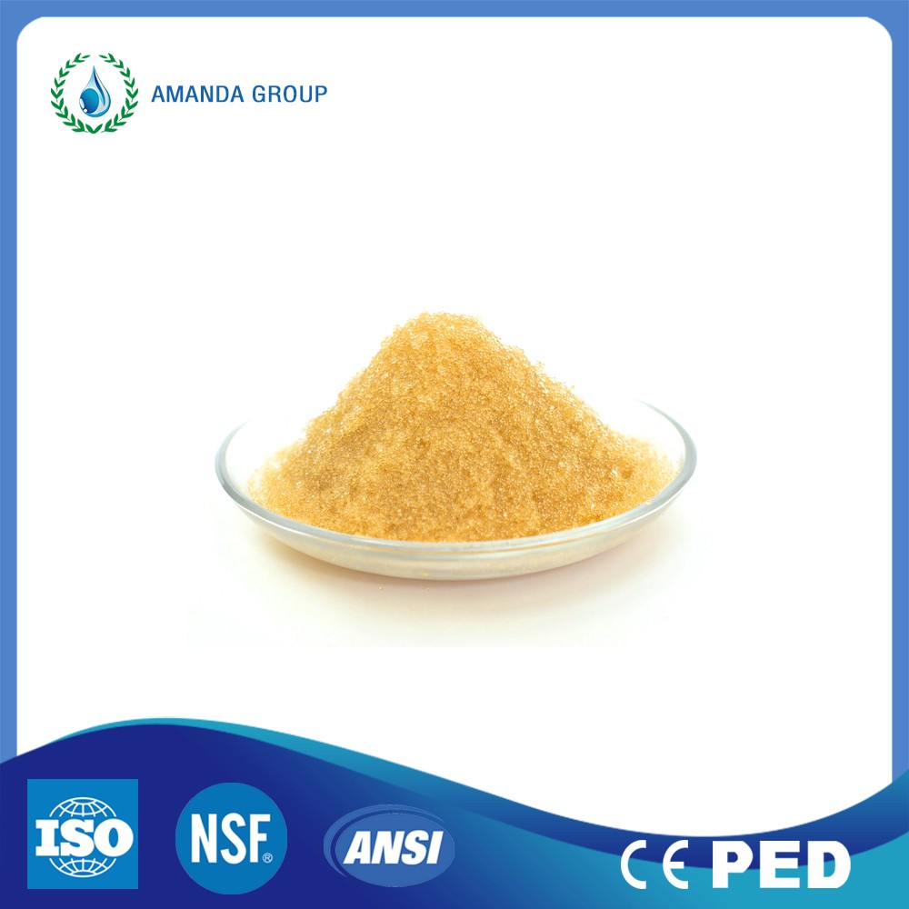water purification ionic resin cation anion ion exchange resin