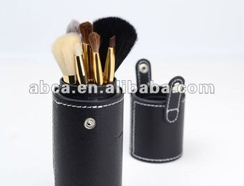 PU cosmetic brushes case makeup brush case beauty brush case