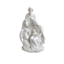 Resin Holy Family Statue Jesus Mary Joseph Angel Nativity Set Figurines For Christian gifts