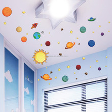 3D wall sticker non-transparent wall decal new solar system removable decorative sticker for room (ZY1313)
