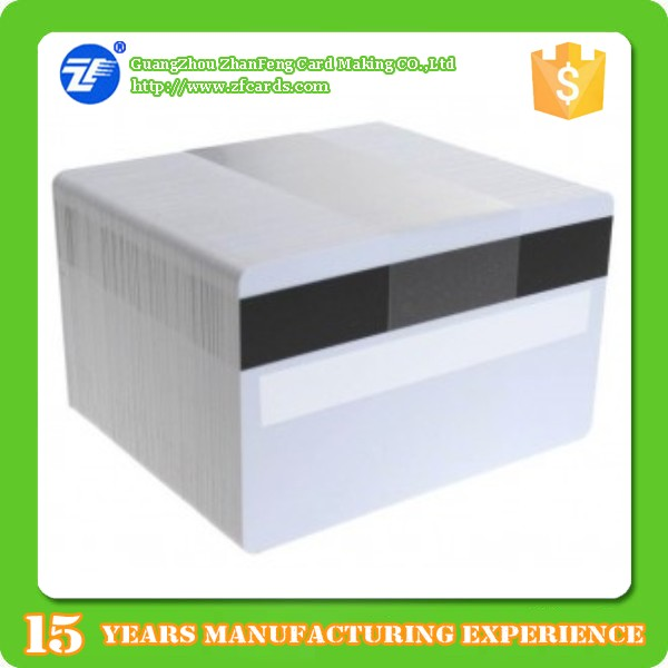 SLE4442 rewritable rfid blank card with signature panel/plastic pvc rfid smart card