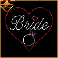 Special bride custom letters rhinestone iron on tshirt