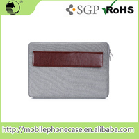 "Hot-Sale 13"" PU+Textile 13 Inch Tablet Sleeve For Apple Macbook Tablet Pouch"