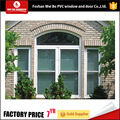 China manufacturer single hung window pvc arch shape lifting window