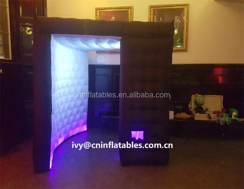 photo booth shell party dome, hot sale inflatable led photo booth