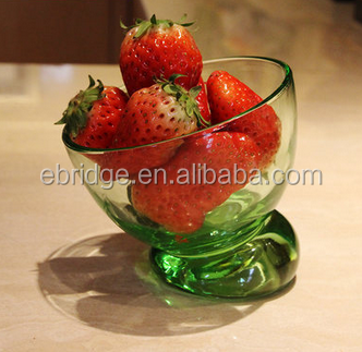 small crystal sugar colored glass dessert bowls