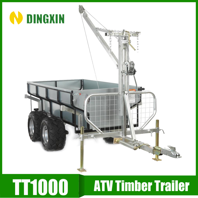 Tow behind farm Trailer galvanized 4 wheel utility trailer