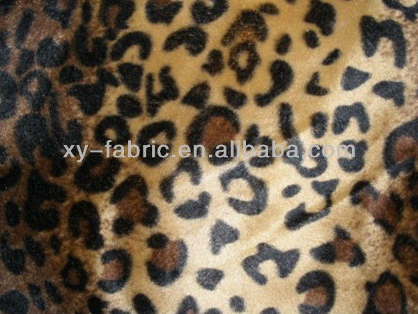 100%polyester animal print velboa fabric for sofa and pillow cover