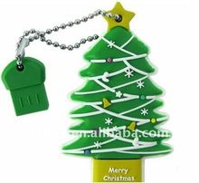 New Christmas tree shape usb flash drive for promotional gift