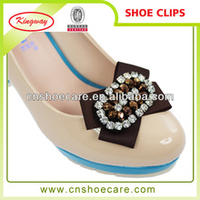 Lady shoes upper beaded shoe clips for decoration