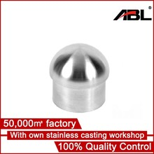 precision casting stainless steel end cap 25mm