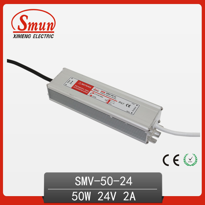 AC-DC Outdoor Waterproof 50W 24V 2A LED Driver