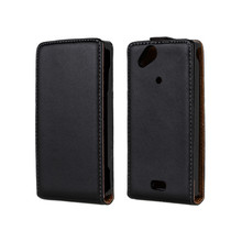 Genuine leather flip case for sony ericsson xperia arc s lt18i x12