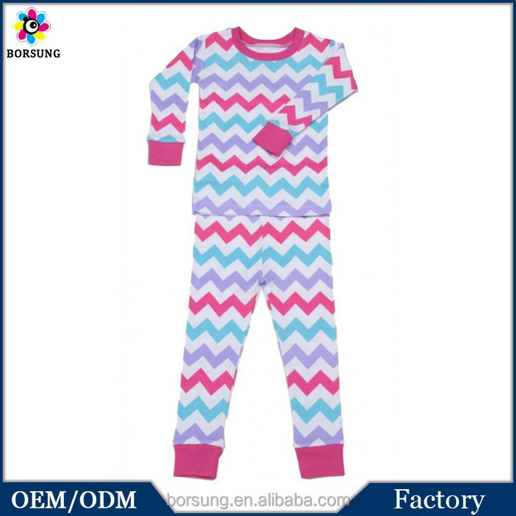 Chevron Girl Pyamas Organic Cotton Kids Pyjamas Cotton Pyjamas