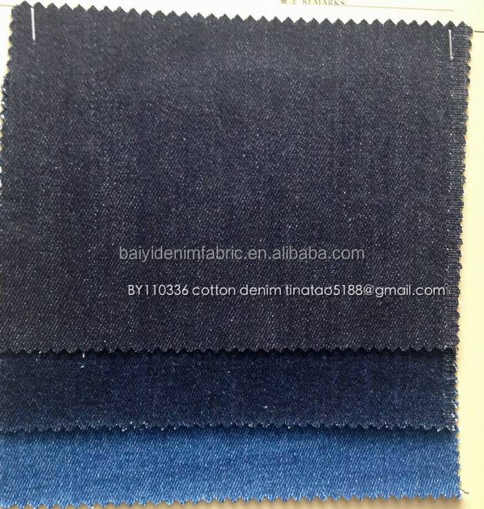China wholesaler 11OZ cotton denim fabric for jean / jkt / skirt