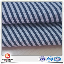 high quality yarn dyed navy white stripe pure cotton seersucker fabric for kids