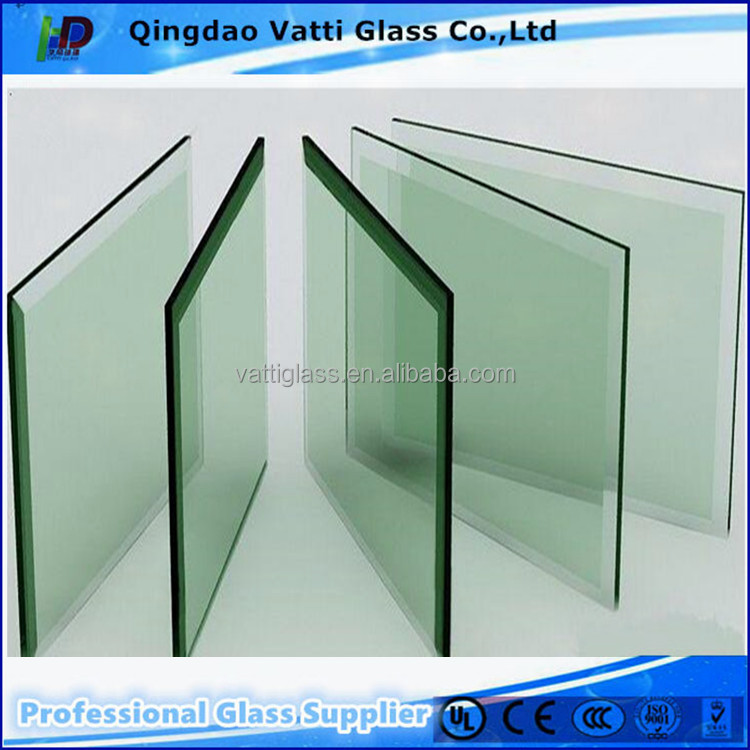 Top quality 12mm thick toughened tempered glass factory price Qingdao
