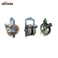 wire rope grounding roller stringing block