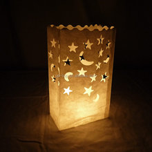 Promotion quality hot selling gift luminaries recycled paper bag