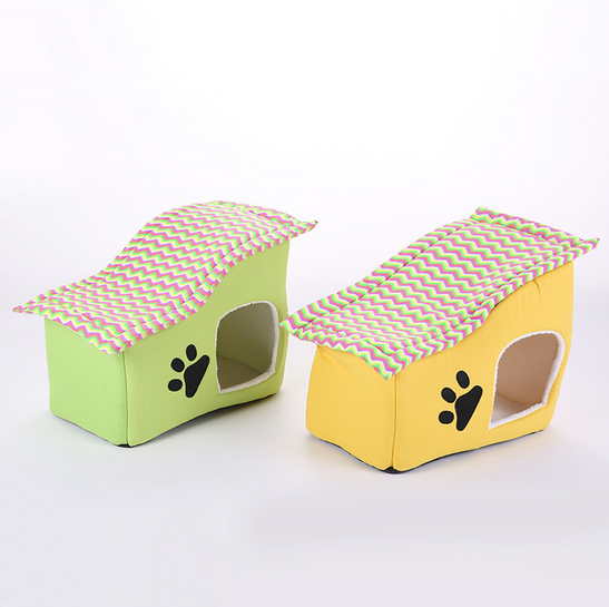 Cute Fashion Comfortable Soft Cotton Pet Cat House With Door
