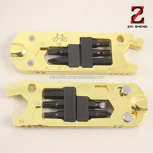 ZS-SC02B Bicycle repair tools, golden bicycle repair kit