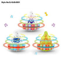 Fashion spinning musical top, peg top with light