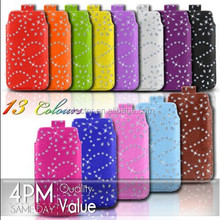 Pull Tab Pull Up Pouch Slide In Case Cover Holster Sleeve Luxury Design Funky for iPhone 5 5c 5s