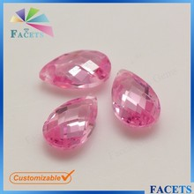 Pear Cut Double Faceted Beads Names Pink Gemstones Beads Gemstones Hong Kong Wholesale